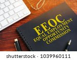 Small photo of Equal Employment Opportunity Commission EEOC on a desk.