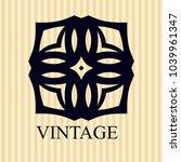 vintage ornamental logo... | Shutterstock .eps vector #1039961347