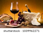 still life. meal with parmesan... | Shutterstock . vector #1039962271