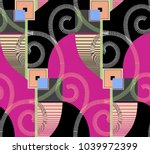 geometric pattern.for textile ... | Shutterstock . vector #1039972399