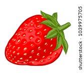 ripe sweet strawberry | Shutterstock .eps vector #1039975705