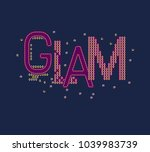 vector print for female t shirt.... | Shutterstock .eps vector #1039983739