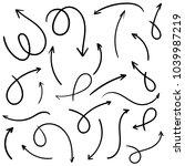 hand drawn arrow set   Shutterstock .eps vector #1039987219