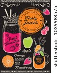 juice and smoothie restaurant...   Shutterstock .eps vector #1039988575