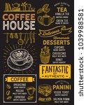 coffee restaurant menu. vector... | Shutterstock .eps vector #1039988581