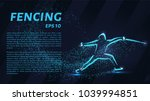 fencing of the particles.... | Shutterstock .eps vector #1039994851