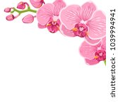 orchid floral branch corner... | Shutterstock .eps vector #1039994941