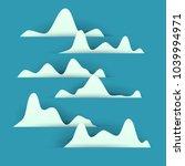 3d vector paper cut white... | Shutterstock .eps vector #1039994971
