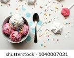 homemade strawberry and vanilla ... | Shutterstock . vector #1040007031