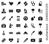 flat vector icon set  ... | Shutterstock .eps vector #1040015155