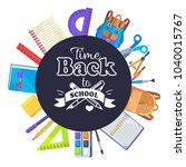 back to school round banner... | Shutterstock . vector #1040015767