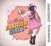 space fashion illustration.... | Shutterstock .eps vector #1040015995