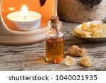 a bottle of frankincense... | Shutterstock . vector #1040021935