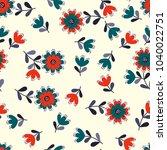simple cute pattern in small... | Shutterstock .eps vector #1040022751