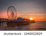 blackpool  uk   february 24th ... | Shutterstock . vector #1040022829
