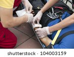 first aid training | Shutterstock . vector #104003159