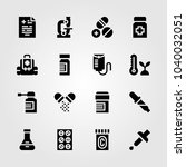 medical icons set. vector... | Shutterstock .eps vector #1040032051