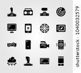 technology icons set. vector... | Shutterstock .eps vector #1040032579