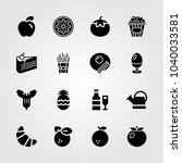 food and drinks icons set.... | Shutterstock .eps vector #1040033581