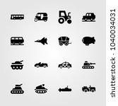 transport icons set. vector... | Shutterstock .eps vector #1040034031