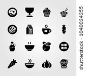 food and drinks icons set.... | Shutterstock .eps vector #1040034355