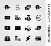 bank icons set. vector... | Shutterstock .eps vector #1040034565