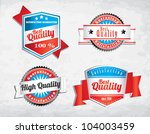 red blue quality retro vintage... | Shutterstock .eps vector #104003459