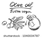 olive plant. vector hand drawn... | Shutterstock .eps vector #1040034787