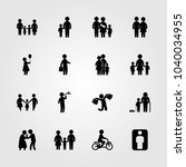 humans icons set. vector... | Shutterstock .eps vector #1040034955