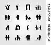 humans icons set. vector... | Shutterstock .eps vector #1040034991