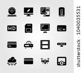 technology icons set. vector... | Shutterstock .eps vector #1040035531