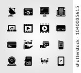 technology icons set. vector... | Shutterstock .eps vector #1040035615