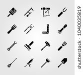 tools icons set. vector... | Shutterstock .eps vector #1040035819