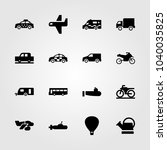transport icons set. vector... | Shutterstock .eps vector #1040035825