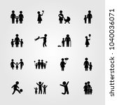 humans icons set. vector... | Shutterstock .eps vector #1040036071