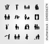 humans icons set. vector... | Shutterstock .eps vector #1040036374