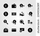 money icons set. vector... | Shutterstock .eps vector #1040036389