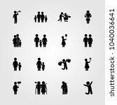 humans icons set. vector... | Shutterstock .eps vector #1040036641