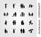 humans icons set. vector... | Shutterstock .eps vector #1040036659