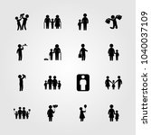 humans icons set. vector... | Shutterstock .eps vector #1040037109