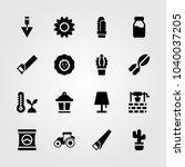 garden icons set. vector... | Shutterstock .eps vector #1040037205