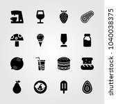 food and drinks icons set.... | Shutterstock .eps vector #1040038375