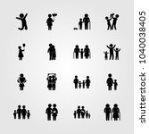 humans icons set. vector... | Shutterstock .eps vector #1040038405