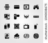 technology icons set. vector... | Shutterstock .eps vector #1040038675