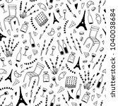 paris style seamless pattern.... | Shutterstock .eps vector #1040038684