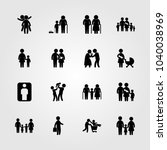 humans icons set. vector... | Shutterstock .eps vector #1040038969