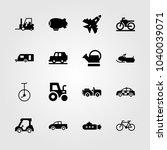 transport icons set. vector... | Shutterstock .eps vector #1040039071