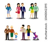 people  couples  parents with...   Shutterstock .eps vector #1040042395