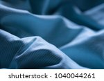 night blue comfortable sheet on ... | Shutterstock . vector #1040044261