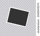 retro realistic vector photo... | Shutterstock .eps vector #1040045074